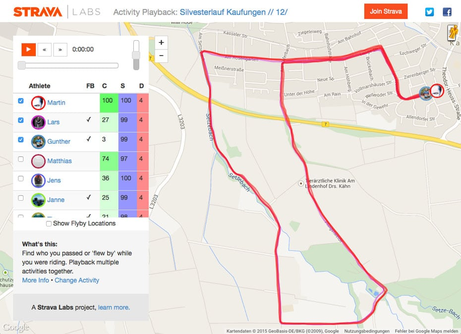 Strava Activity Playback