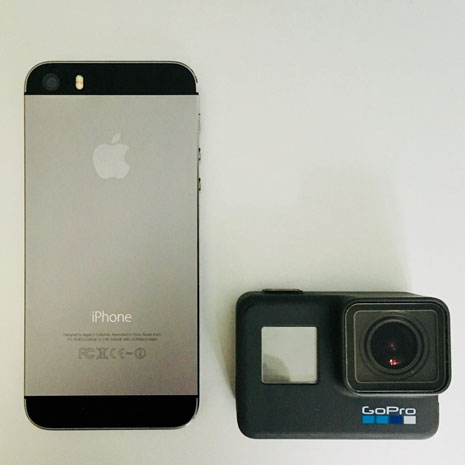 iPhone vs. GoPro